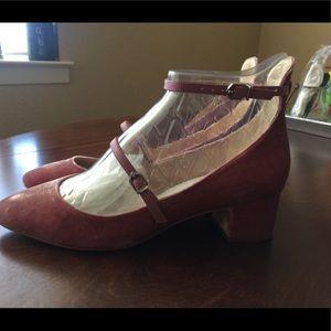 b4a222bef366 Sam Edelman Shoes - Sam Edelman Lulie Velvet Ankle Strap Pump NWT